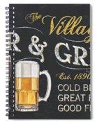 Village Bar And Grill Spiral Notebook