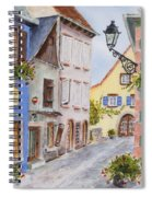 Village In Alsace Spiral Notebook
