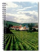 Village In The Vineyards Of France Spiral Notebook