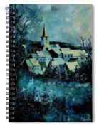 Village In Winter Spiral Notebook
