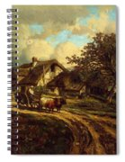 Village Landscape 1844 Spiral Notebook