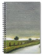 Village Road In The Twilight  Spiral Notebook