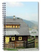 Village With Wooden Houses On Mountain Spiral Notebook
