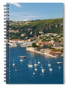Villefranche-sur-mer And Cap De Nice On French Riviera Spiral Notebook
