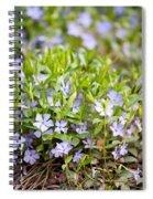 Vinca Violet Purple Clump Spiral Notebook