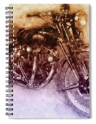Vincent Black Shadow 2 - Standard Motorcycle - 1948 - Motorcycle Poster - Automotive Art Spiral Notebook