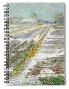 Vincent Van Gogh, Landscape With Snow Spiral Notebook