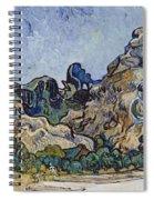 Vincent Van Gogh  Mountains At Saint Remy Spiral Notebook