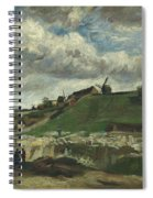 Vincent Van Gogh, The Hill Of Montmartre With Stone Quarry, Paris Spiral Notebook