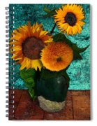 Vincent's Sunflowers 2 Spiral Notebook