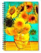 Vincent's Sunflowers 4 Spiral Notebook