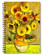 Vincent's Sunflowers Spiral Notebook