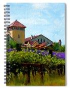 Vineyard And Heather Spiral Notebook