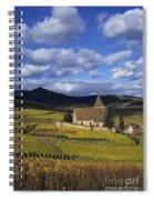 Vineyard In Alsace, France Spiral Notebook