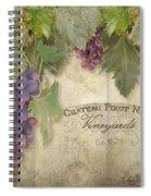 Vineyard Series - Chateau Pinot Noir Vineyards Sign Spiral Notebook