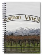 Vineyard Under Snow Spiral Notebook