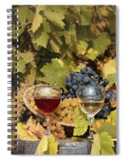 Vineyard With Red And White Wine Autumn Season Spiral Notebook