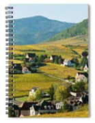Vineyards In Autumn In The Morning Spiral Notebook