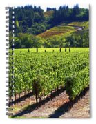 Vineyards In Sonoma County Spiral Notebook
