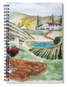 Vineyards Of Tuscany  Spiral Notebook