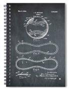 Vintage 1928 Baseball Patent Chalk Spiral Notebook