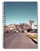 Vintage 1950s View Of Congress Avenue Looking North From South Congress To The Capitol Spiral Notebook