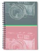 Vintage 35mm Film Camera Pop Art Totem Spiral Notebook