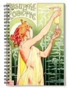 Vintage Absinthe Robette Poster Spiral Notebook