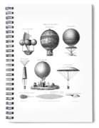 Vintage Aeronautics - Early Balloon Designs Spiral Notebook