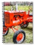 Vintage Allis-chalmers Tractor Watercolor Spiral Notebook