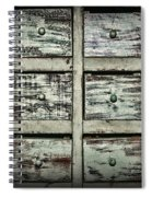 Vintage Apothecary Drawers Spiral Notebook