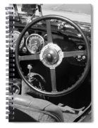 Vintage Aston Martin Dashboard Spiral Notebook