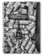 Vintage Barrel Taps And Cork Screw Black And White Spiral Notebook