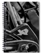 Vintage Baseball Chairs Spiral Notebook