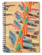 Vintage Beach Spiral Notebook