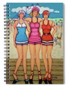 Vintage Beach Scene - Holiday At The Seashore Spiral Notebook