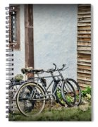 Vintage Bicycles The Journey Spiral Notebook