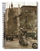 Vintage Bike Lady Spiral Notebook
