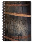 Vintage Bordeaux Wine Barrel Without Its X Spiral Notebook