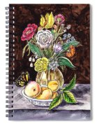Vintage Bouquet With Fruits And Butterfly  Spiral Notebook