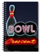 Vintage Bowling Neon Sign Spiral Notebook