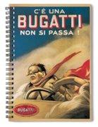Vintage Bugatti Advert Spiral Notebook
