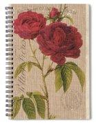 Vintage Burlap Floral 3 Spiral Notebook