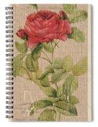 Vintage Burlap Floral Spiral Notebook