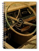 Vintage Cadillac Steering Wheel And Interior Spiral Notebook