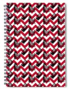 Vintage Camera Chevron Spiral Notebook