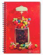 Vintage Candy Store Gum Ball Machine Spiral Notebook