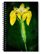 Vintage Canna Lily Spiral Notebook