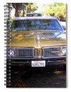 Vintage Car. Front View Spiral Notebook