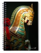 Vintage Carousel Horse Spiral Notebook